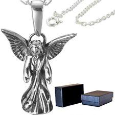 Schutz Engel Kette Flügel Anhänger Ankerkette Engelschmuck echt 925 Silber