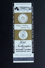 Hotel Northampton and Wiggins Tavern, Mass Matchbook Cover