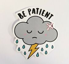 Kawaii rain cloud sticker