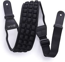 "KLIQ AirCell Guitar Strap for Bass  Electric Guitar with 3"" Wide Neoprene Pad"
