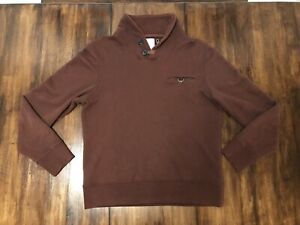 BILLY REID Shiloh Shawl Collar Melange Sweater Pullover Rust Men's size M