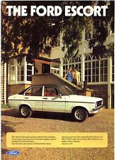 Ford Escort Mk2 1980-81 UK Market Sales Brochure Ghia Sport GL L Popular Plus