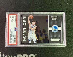 2015-16 Panini Prizm Basketball Stephen Curry Point Men #3 PSA 10