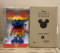 Disney Rainbow Mickey Mouse Year of The Mouse Plush June Pride Exclusive RARE LE