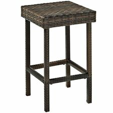 Crosley Co7107 BR Palm Harbor Outdoor Wicker Counter Height Stool Set of 2 ...