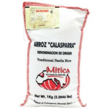 Calasparra Rice (Paella Rice) 2.2 lb bag by Mitica