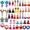Fashion Women Bohemian Jewelry Elegant Crystal Tassel Earrings Long Drop Dangle