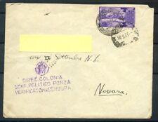 1933 - REGNO - BUSTA DA PONZA PER NOVARA - LOTTO/26747