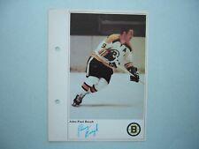 1971/72 TORONTO SUN NHL ACTION HOCKEY PHOTO JOHNNY BUCYK SHARP!!
