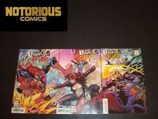Typhoid Fever 1-3 Complete Connecting Variant Set Spider-Man Iron Fist X-Men