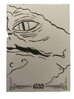 2020 Star Wars Black & White Return of the Jedi Sketch JABBA Michelle Rayner 1/1