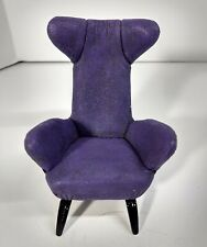 "Raine ""Take a Seat"" Miniature Chair, Purple Slope Wingback #24023 + Box & Coa"