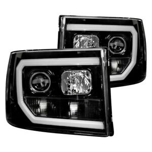 Recon For 07-13 Sierra 2nd GEN Black LED DRL Projector Headlights 264271BKC