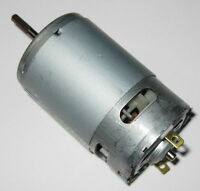 12V DC Fan Cooled Motor - 3.17mm Splined Shaft - High Speed - Long 16mm Shaft