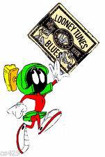 "7"" Looney tunes marvin the martian fabric applique iron on character"