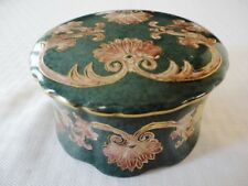 Vintage ceramic famile verte Chinese lidded candy dish --- Estate Sale