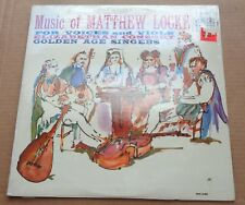 MUSIC OF MATTHEW LOCKE for Voices and Viols - Music Guild MS-835 SEALED