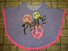 Justice Sparkly Peace Shirt. Sz. Girl's 16-18. NICE!