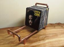 "Copper Vinyl 7"" 12"" LP Record Stand Industrial Storage Holder Pipe"