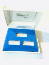 ROCKET JEWELRY BOX INC. BLUE DIAMONDS MADE U.S.A. PLASTIC RING BOX FOR 3 RINGS .