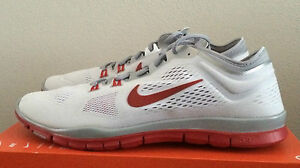 Womens Size 15 White Red Nike Free 5.0 TR Fit 4 Team Athletic Shoes 642069 109