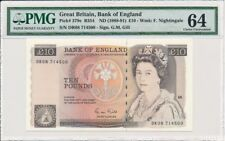 Great Britain England 10 pounds 1988 - 1991 UNC PMG64