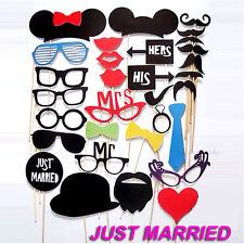 31 Pcs Photo Booth Props Set Wedding Engagement Party Decoration Mask Photobooth