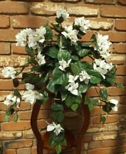 *  BOUGAINVILLEA * WHITE FLOWERS ARTIFICIAL HANGING PLANT POT NOT INCLUDED NEW