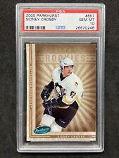 2005-06 Parkhurst Sidney Crosby Rookie RC #657 Pittsburgh Penguins PSA 10