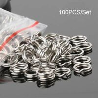 High Quality Hot Fish Connector Swivel Snap Stainless Steel Fishing Split Rings