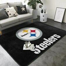 Pittsburgh Steelers Soft Carpet Living Room Anti-Skid Rugs Bedroom Floor Mat Rug