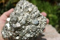 Beautiful Pyrite Crystal Cluster Specimen 4+ Lbs! US Seller Free Ship! Lot# 503