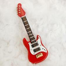 Dollhouse Miniature Wooden Electric Guitar Music Room Musical Instrument