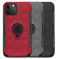 For iPhone 11 Pro Max, Rugged Belt Clip Holster Combo Case with Ring