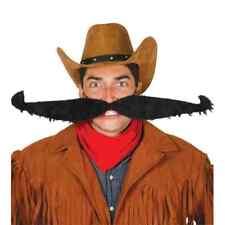 55cm Wide Black Huge Mega Moustache Flexible Mexican Tash