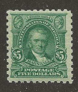 US Stamp #480 1917 Light Green $5 Marshall Mint OG NH SCV $375
