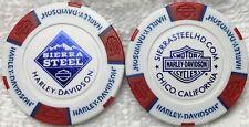 Sierra Steel Harley-Davidson® in Chico, CA Collector Poker Chip White/Red NEW