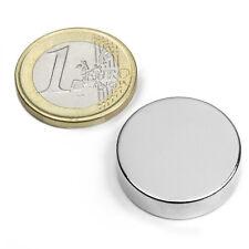Imanes de Neodimio en Disco Ø 25 mm, altura 07 mm. Fuerza 12 kg. Imán Potente