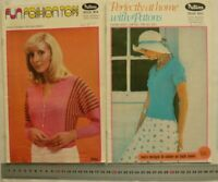 PATONS KNITTING 870 LADIES SUMMER HANDKNITS in CORAL CARDIGAN TOPS 8 PLY