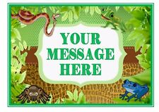 ND1 reptiles party theme birthday personalised A4 cake topper icing sheet
