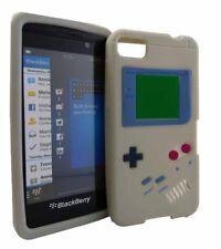 Silikon Case Retro Style Spielkonsole für BlackBerry Z10 in grau Handytasche
