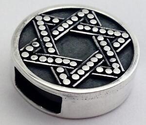 Authentic Lori Bonn Bons 925 Silver Star of David Slide Charm 29923, New