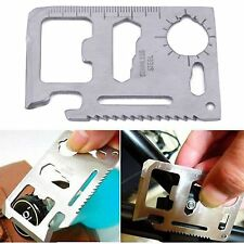 Multi Tool 11 in 1 Camping Survival Pocket Credit Card size Stainless Steel