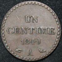 1849 A | France 1 Centime | Bronze | Coins | KM Coins