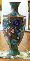 "Antique Japanese Cloisonne HEXAGONAL Vase. 7.5 x 3.25"""