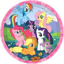 MY LITTLE PONY PARTY SUPPLIES DINNER PAPER PLATES PACK OF 8 GENUINE LICENSED