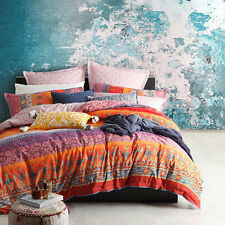 Logan and Mason India Spice Boho Chic Queen Size Bed Doona Duvet Quilt Cover Set