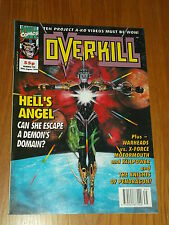 OVERKILL #10 MARVEL BRITISH MAGAZINE 28 AUGUST 1992 HELLS ANGEL WARHEADS^
