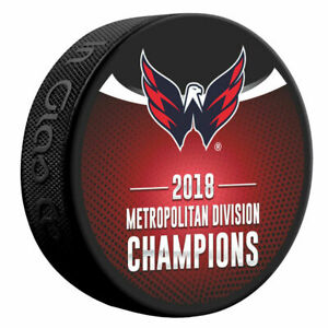 2018 Washington Capitals Metropolitan Division Champions Souvenir Puck