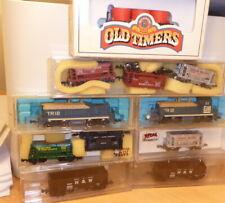 Voie N Set Locomotive Diesel Avec Dummy, 9 X Marchandises USA Epoque 3/4 Bon